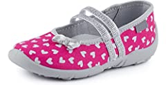 Idea Regalo - Ladeheid Pantofole Ballerine Bambina LAVI0005 (Rosa/Cuore, 32)