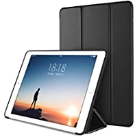 DTTO New iPad Case 9.7 Inch 2018/2017, Ultra Slim Lightweight Smart Case Trifold Cover Stand with Soft TPU Back Cover for Apple iPad 5th/6th Generation [Auto Sleep/Wake] - Black