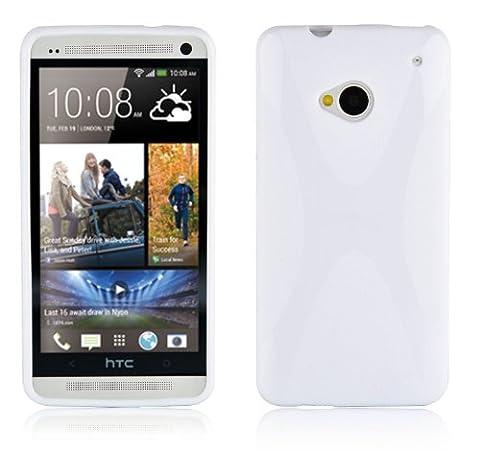 Cadorabo - TPU X-line Style Silikon Hülle für HTC ONE M7 - Case Cover Schutzhülle Bumper in