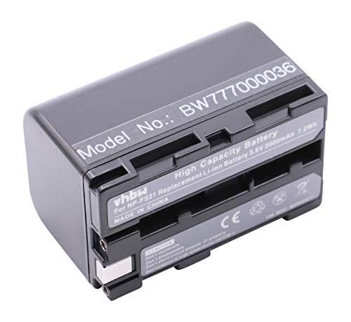 vhbw Akku 2000mAh (3.6V) für Camcorder Kamera Sony ersetzt NP-FS21, NP-FS22, NP-FS30, NP-FS31. Fs22-camcorder