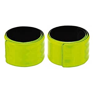 Reflexband - Reflektorband Schnapparmband neongelb - Größe ca. 33,5 x 4 cm