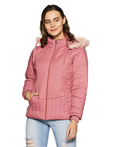Qube By Fort Collins Women's Parka Hoodie (39221 SMU!_Pink!_M)