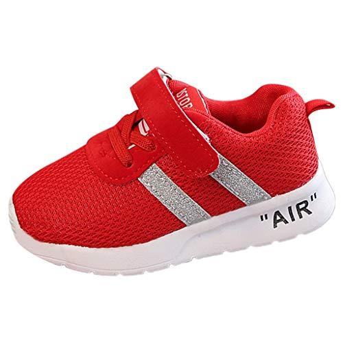 WEXCV Unisex Baby Jungen Mädchen Kinder Herbst Einfarbig Weben Schuhe Mesh Atmungsaktiv Sportschuhe Freizeitschuhe Outdoor Anti-Rutsch Licht Sneaker 22.5-46