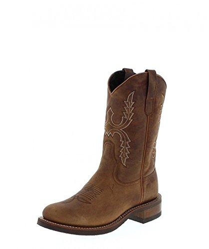 Sendra Boots Herren Lederstiefel 11615 Schafsfellfutter Braun 47 EU -