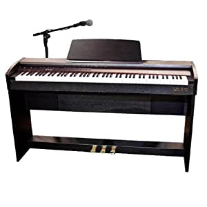 Chase CDP-240BK Digital Piano in Black - With 3 Pedals and USB