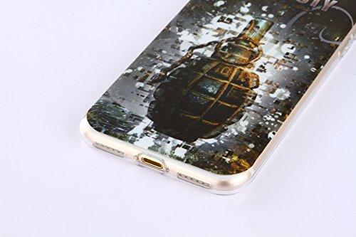 iPhone 6 Silikonhülle - Felfy Ultra Slim Dünnen Weiche Gel Druck Liebe grün und rosa Anker Muster TPU Back Case Cover Zurück Tasche Etui für Apple iPhone 6S 6 4.7 Zoll + 1x Black Stylus + 1x Displaysc Granate