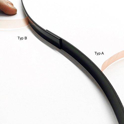 Preisvergleich Produktbild easydruck24de 2er Set Magnetband Typ A und B Selbstklebend MAGSTICK 424 I magnetband_002 I Magnet-Streifen Magnet-Klebeband Lang magnetisch zuschneidbar 5 Meter