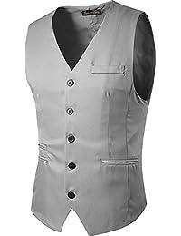 Sportides Men'S Waistcoat Gilet Business Leisure Gentleman Vest Suits Blazer JZA005