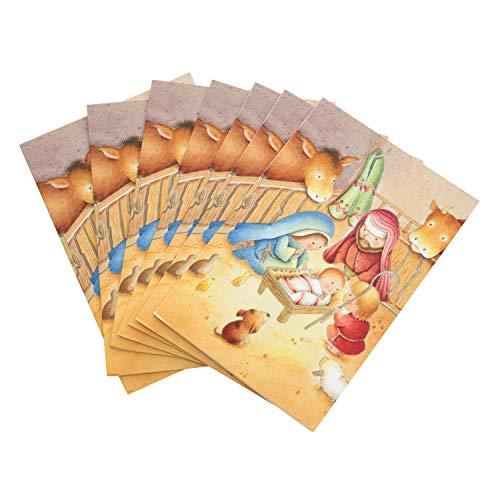 Biglietti Di Natale Religiosi.Hallmark 25500674 Biglietti Di Auguri Natalizi Religiosi