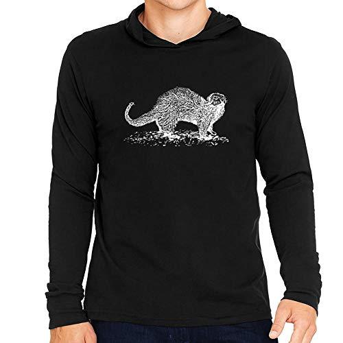 Idakoos Ferret Sketch Kapuze Langarm T-Shirt M -