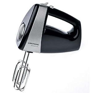 Grundig HM 5040 Premium-Handmixer (300 Watt), schwarz-silber
