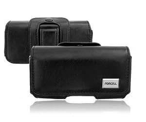 Gürteltasche Xperia E Sony Schwarz Slim Leder Handy Schutz Tasche Clip Edel
