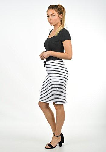 DESIRES Lene Damen Kurzer Rock Sweatrock Midirock mit Streifen aus Stretch-Anteil