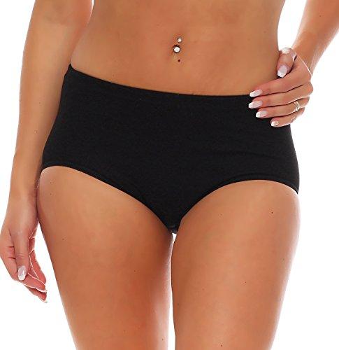 FTSD - FindTheSecretDreams 3er Pack Damen Slips Pants Hipster Unterwäsche ohne Seitennähte (Schwarz / (XXX-Large))