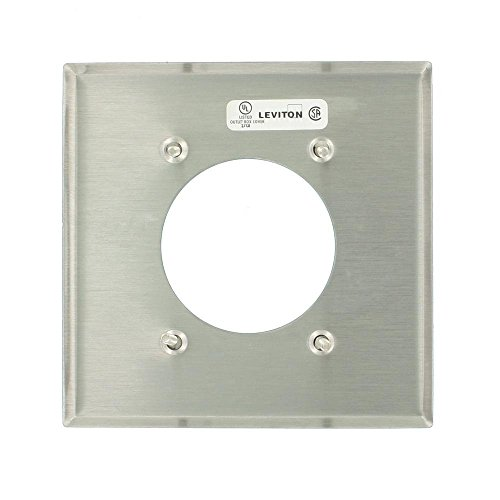 Leviton 84026 2-Gang Flush Mount 2.15-Inch Diameter, Device Receptacle Wallplate, Standard Size, Stainless Steel by Leviton Leviton Flush Mount