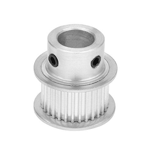 sourcingmap® Aluminium MXL 30 Zähne, 10 mm Bohrung 11 mm Riemenzylinder-Synchronrad