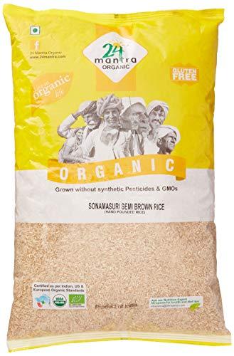 9. 24 Mantra Organic Sonamasuri Semi Brown Rice