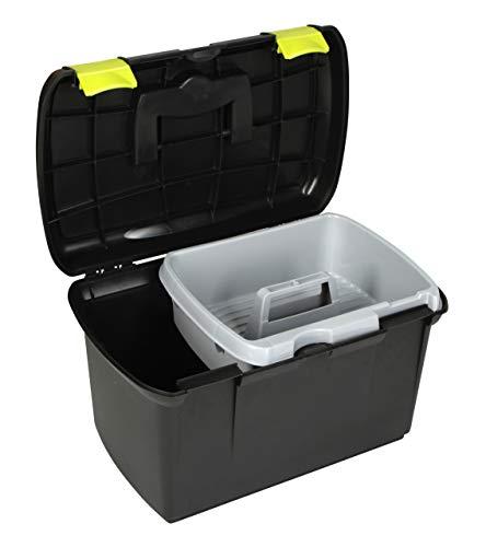 Kerbl 321747 Putzbox Arrezzo schwarz / pistazie mit herausnehmbaren Einsatz - 2