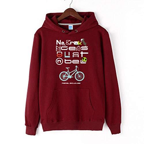 Berrd Neue ModeSweatshirt Herren Sweatshirt Damen Sweatshirt Rotes Fahrrad-M