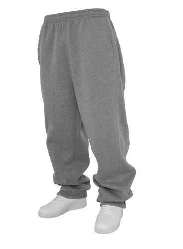 Urban Classics Sweatpants TB014B - cotone, grigio, 65% cotone 35% poliestere, Uomo, M