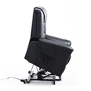 HOMCOM Electric Mobility Lift Chair PU Leather Cinema Riser Recliner Mobility