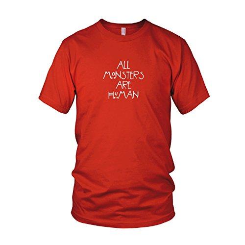 All Monsters are Human - Herren T-Shirt Rot