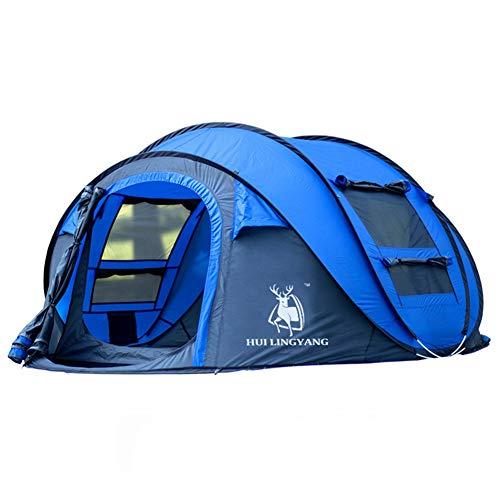 Campingzelt, Ultraleicht Große Picknick 3-4 Personen Familie Popup Wurfzelte Festival Zelte /Zelt mit Tragetasche, Tragbar Wasserdicht Schnellöffnungs Wurfzelt, für Wandern Reisen Strand,Blau