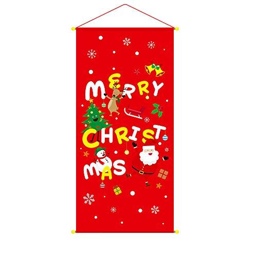 TianranRT Weihnachten Garten Flagge Indoor Outdoor Zuhause Dekor Weihnachten Winter Frohe Weihnachten (D)