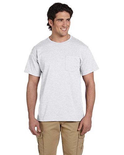 Jerzees 5.6 oz 50/50 Heavyweight blendtm Pocket T-Shirt grau asche (Pocket T-shirt Heavyweight)