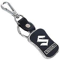 SOI Leather Chrome Car Key Chain Key Ring for Maruti Suzuki Dzire/Baleno/Swift/Wagon R/Vitara Brezza/Ertiga/Alto/Celerio…