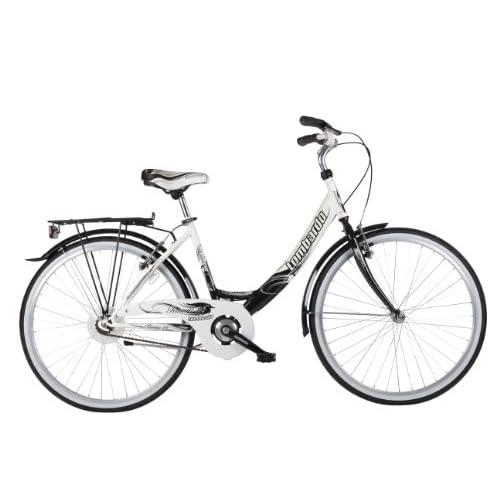 41D8aoAEJ3L. SS500  - Lombardo Women's Rimini Single-Speed City Bike - White/Black, 17 inch