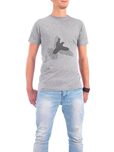 """Design T-Shirt Männer Continental Cotton """"Grey Bird"""" - stylisches Shirt Tiere von Florent Bodart Grau"""