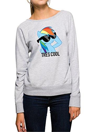 Tres Cool Pony Sweater Girls Grey Certified Freak-XL