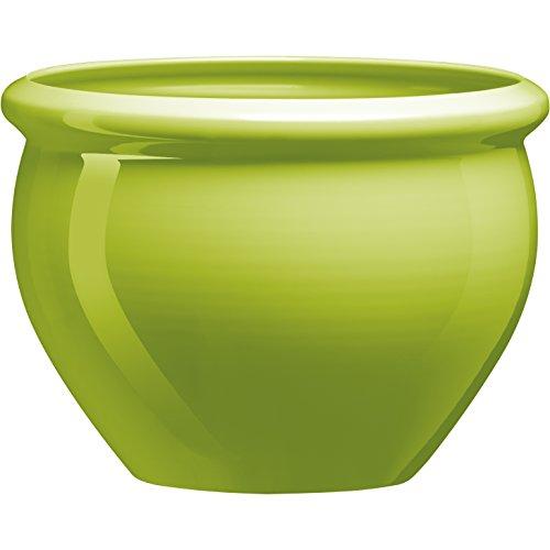 Emsa 514113 SIENA NOBILE round planter, ø 26 x 19 cm, green