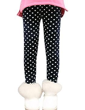 Niña Flor Impresión Leggings Elástico Pantalones Leggins Largos Gruesos Para Otoño Invierno