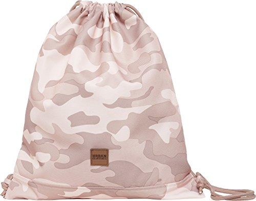 Urban Classics Gym Bag Turnbeutel, 43 cm, Rose Camo -