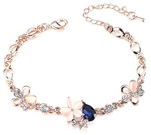YouBella Jewellery Rose Gold Plated Crystal Bracelet Bangle Jewellery For Girls and...