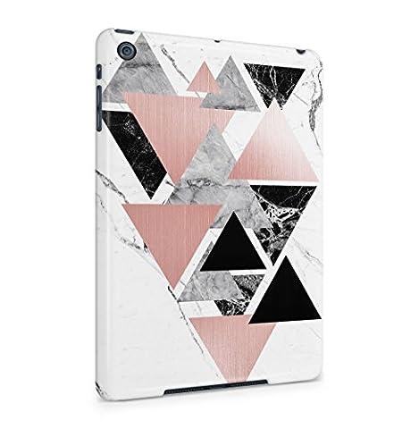 Black Onyx & Granite Stone On White Marble Hard Thin Plastic Phone Case Cover For iPad Mini 1