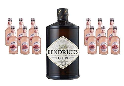Hendrick\'s Gin (1 x 0.7 l) mit Fentimans Rose Lemonade, EINWEG (12 x 275 ml)