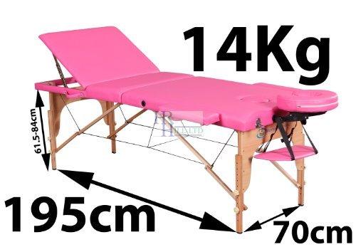 Preisvergleich Produktbild Massage Imperial® - tragbare Profi-Deluxe-Massageliege Kensington - 3-teilig - pink