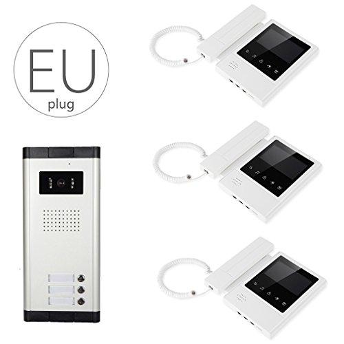 LUFA V43E168-520-3 Pantalla LCD Videoportero con cable Videoportero con cámara infrarroja de...
