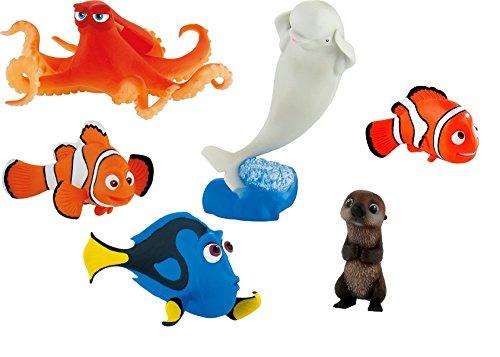 Findet Dory Tortendeko - 6er Figuren Set - Dory, Nemo, Bailey, Hank, Marlin, Otter