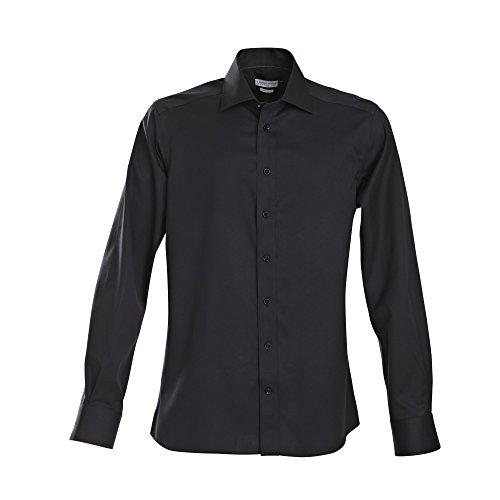 J Harvest & Frost Green Bow Collection - Chemise habillée coupe cintrée à manche longues - Homme Noir