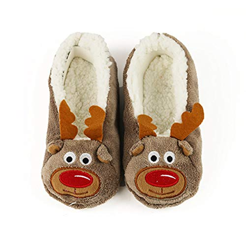 NIKIMI Frühlingsfrauen Nette Hausschuhe Tier Warme Weiche Indoor Socken Home Wohnungen Rutschfeste Pelz ()