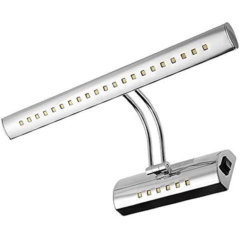 CroLED® 6W 27 LED 5050 SMD Lámpara de Pared para Baño Espejo 420LM Luz Blanco