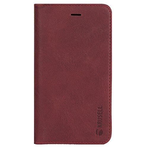 Krusell Sunne 4 Funda para teléfono móvil Folio Rojo - Fundas para teléfonos móviles (Folio, Apple, iPhone X, Rojo)