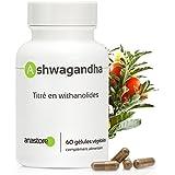 ASHWAGANDHA * Haut titrage en withanolides: 5% * 400 mg / 60 gélules végétales * Plante adaptogène * Référence...