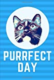 Purrfect Day Notebook For Cat Lover. Blank Lined Motivational Journal, Diary.