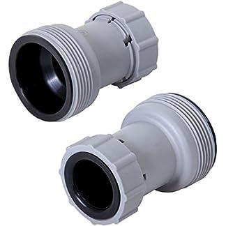 Bestway, Coppia di adattatori riduttori per tubi da 38″ a 32″ per filtro piscina