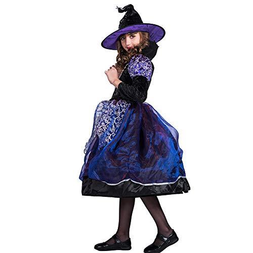 Teufel Kid Kostüm - JH&MM Halloween Girl Hexe Teufel Kostüm Cosplay Party Game Maskerade Kostüm,S